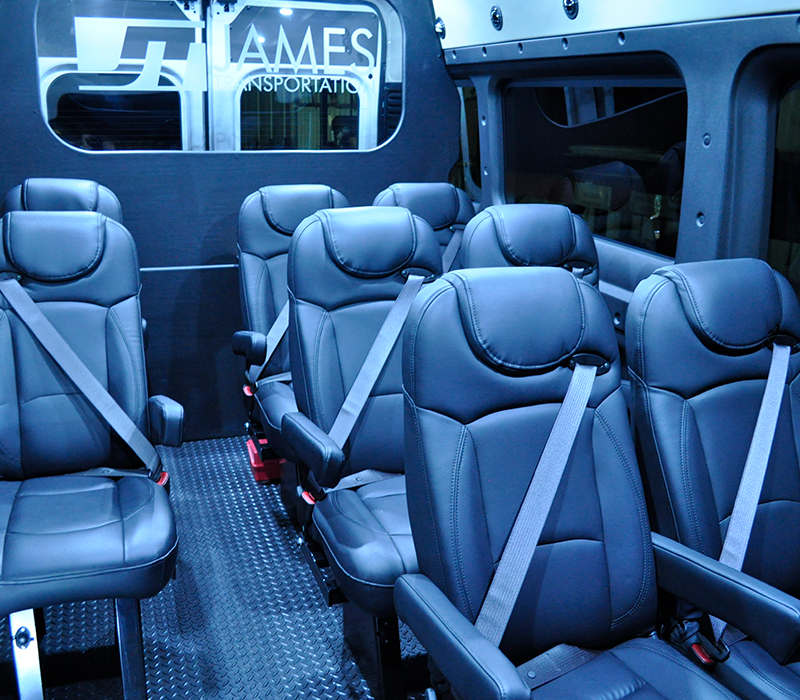 interior of luxury vehicle with leather seats