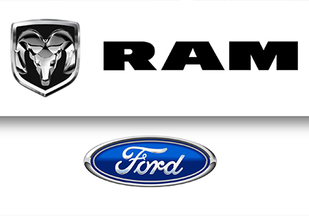 ram and ford logos